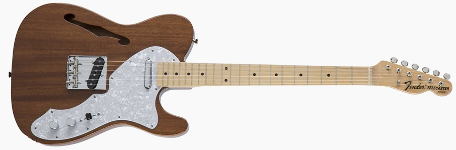 Fender Japan Traditional 69 Telecaster Thinline Natural