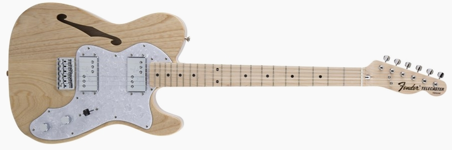 Fender Japan Traditional 70s Telecaster Thinline Natural