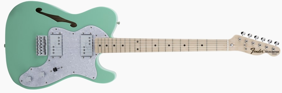Fender Japan Traditional 70s Telecaster Thinline Surf Green